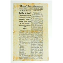 1880 ANTIQUE THE WALDO MURDER INDICTMENT NEWS CLIPPING