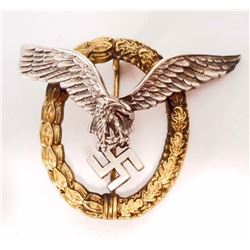 GERMAN NAZI LUFTWAFFE PILOT OBSERVER BADGE