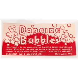 VINTAGE DANCING BUBBLES ADVERTISING LABEL