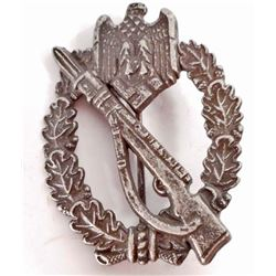 GERMAN NAZI ARMY SILVER INFANTRY ASSAULT BADGE