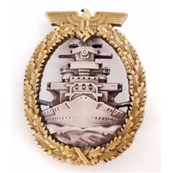 GERMAN NAZI NAVAL HIGH SEAS FLEET BADGE