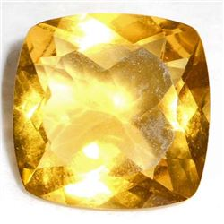 20.5 CT CUSHION CUT YELLOW QUARTZ