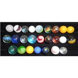 LOT OF 25 COLORFUL VINTAGE MARBLES