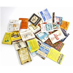 LOT OF 25 VINTAGE ADVERTISING  MATCH BOOKS