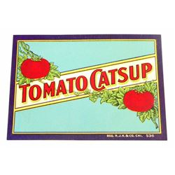 VINTAGE TOMATO CATSUP ADVERTISING LABEL