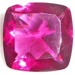 15.5 CT CUSHION CUT RUBYLITE