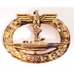 GERMAN NAZI NAVAL U-BOAT SUBMARINE BADGE