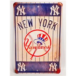 NEW YORK YANKEES EMBOSSED TIN SIGN
