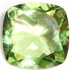 15.0 CT CUSHION CUT GREEN AMETHYST