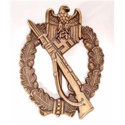 GERMAN NAZI ARMY BRONZE INFANTRY ASSAULT BADGE