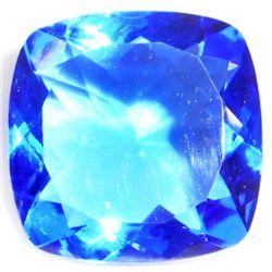 20.5 CT CUSHION CUT DARK BLUE QUARTZ