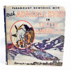 """1934 """"ADMIRAL BYRD IN LITTLE AMERICA"""" HARDCOVER BOOK"""
