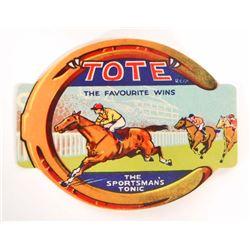 VINTAGE TOTE SPORTSMANS TONIC ADVERTISING BOTTLE LABEL