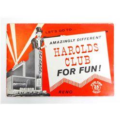1963 VINTAGE HAROLDS CLUB FOR FUN BOOKLET