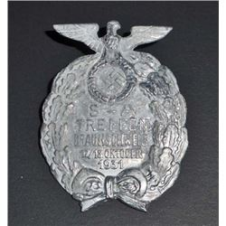 NAZI GERMAN SA TREFFEN BRAUNSCHWEIG RALLY BADGE