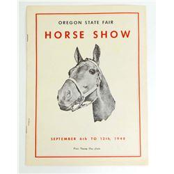 1948 OREGON STATE FAIR HORSE SHOW BOOKLET