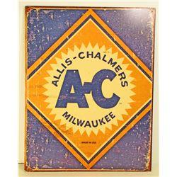 ALLIS - CHALMERS ADVERTISING METAL SIGN