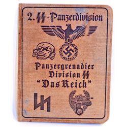 NAZI GERMAN WAFFEN SS PANZER GRENADIER DAS REICH SOLDIER IDENTIFICATION BOOKLET