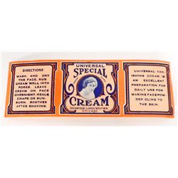 VINTAGE UNIVERSAL SPECIAL CREAM ADVERTISING LABEL