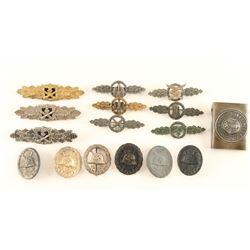 WW II Nazi Bars, Badges & More