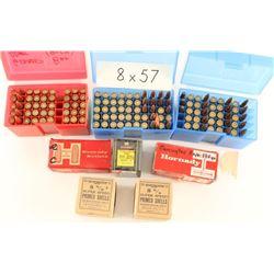 Lot of 8mm Ammo & Reloads