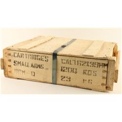 Crate of 7.62 x 39 Ammo