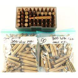 Lot of .300 Brass & Ammo