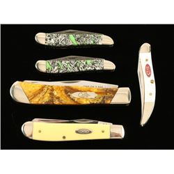 Lot of 5 W.R. Case & Sons Pocket Knives