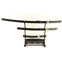 3 Pc. Traditional Samurai Katana Sword Set