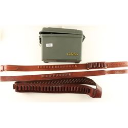 Lot of Leather Ammo Belts