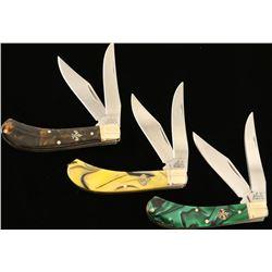 Lot of 3 E.C. Simmons Pocket Knives