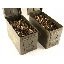 2 Ammo Boxes Full of .45 Cal Brass