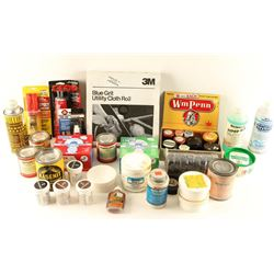 Large Lot of Gun Cleaning Supplies, Oils & Putty