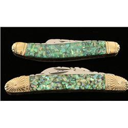 Lot of 2 Cherokee Stone Works Pocket Knives