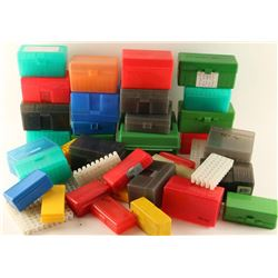 Large Lot of Plastic Ammo Cases
