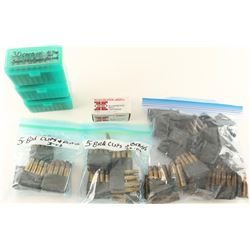 Lot of 30-06 & 30 Carbine Clips & Brass