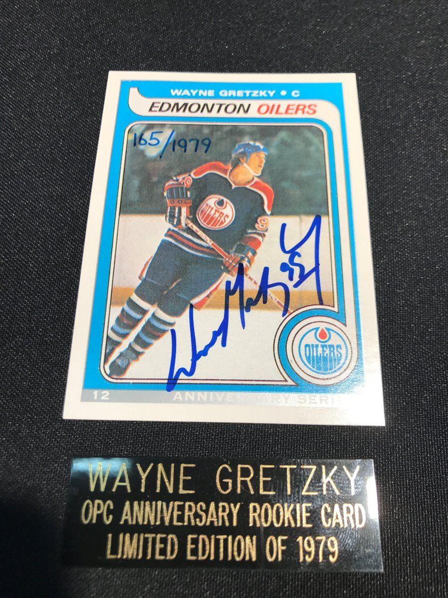 Wayne Gretzky Autographed Anniversary Opc Rookie Card Comes