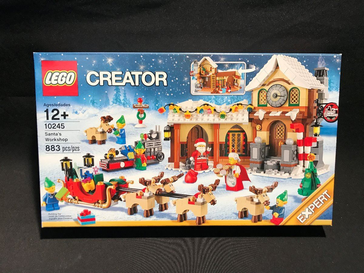 LEGO (10245) CREATOR SANTA'S WORKSHOP 883 PC FACTORY SEALED