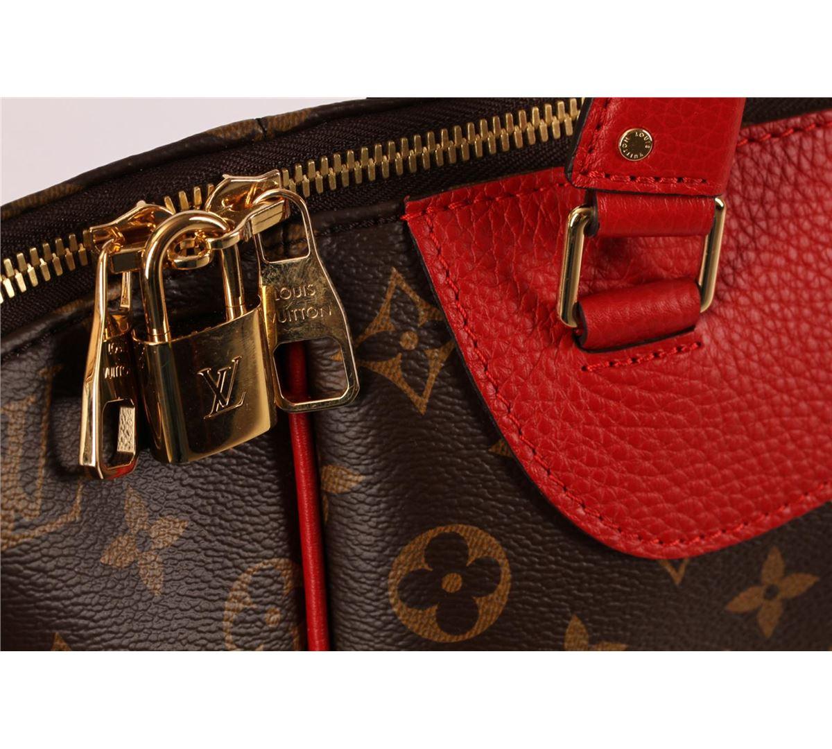 Authentic Louis Vuitton Monogram Red Cerise Estrela Nm Bag