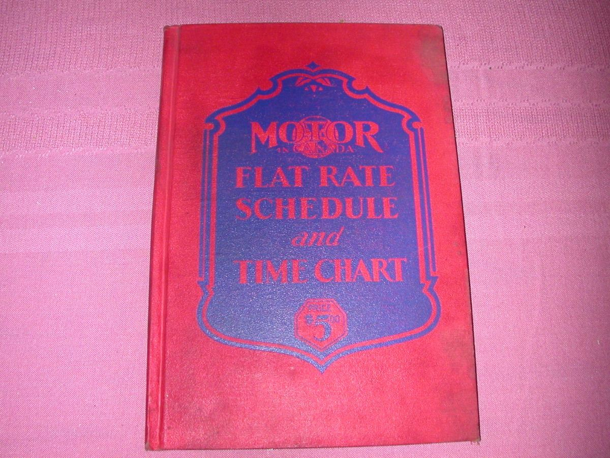 automotive flat rate book
