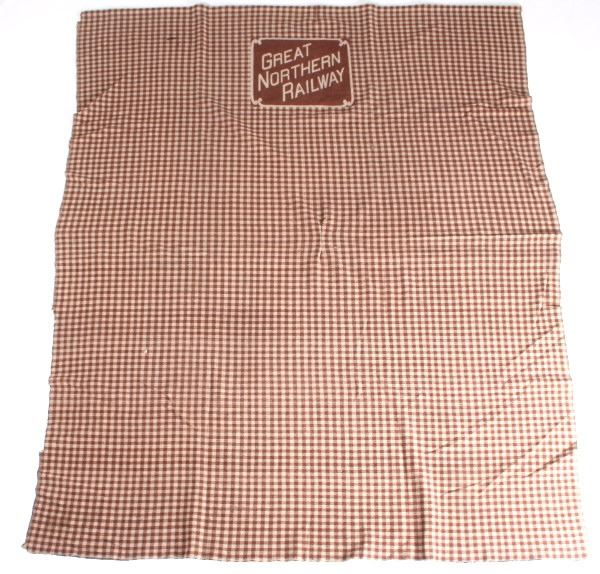 Great Northern Railway Caboose Wool Lap Blanket