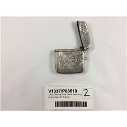 1903 Sterling Silver Vesta Case with Engravings (30 Grams)