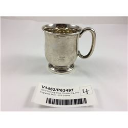 1909 Sterling Silver Christening Cup Engraved MGK -103 Grams