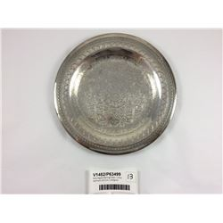 Early Egypt Sterling Plate - Lotus Hallmark 200mm ( 244gms)