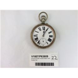 Antique Goliath Pocket Watch with Sweep Dial