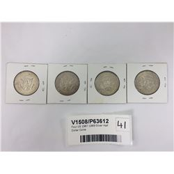 Four US 1967-1969 Silver Half Dollar Coins