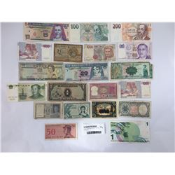 Group of World Banknotes Including 10 Piastres