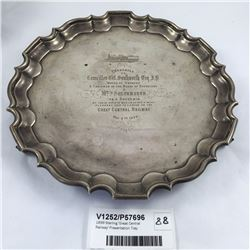 1899 Sterling 'Great Central Railway' Presentation Tray