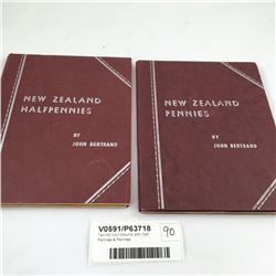 Two NZ Coin Albums with Half Pennies