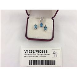 18ct White Gold Earring
